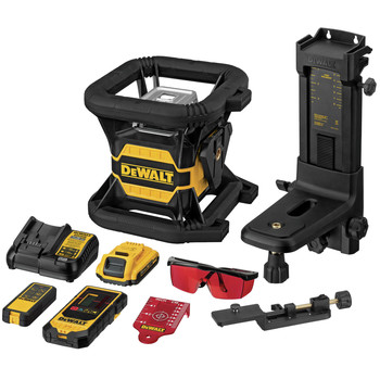 Dewalt DW080LRS 20V MAX Tool Connect Red Tough Rotary Laser Level