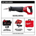 Milwaukee 2720-22 M18 FUEL Cordless Sawzall Reciprocating Saw Kit with (2) 5.0 Ah Batteries, Charger and Case image number 1