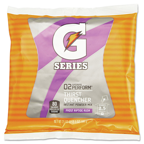 Gatorade 308-33673 21 oz. Packets Original Powdered Drink Mix (Riptide Rush) (32-Pack)