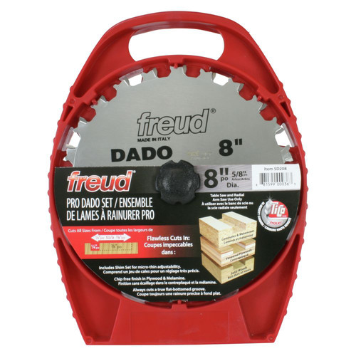 Freud SD208 8 in. 12 Tooth Pro Stack Dado Set