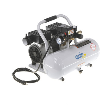 Quipall 2-1-SIL-AL Oil Free and Silent Compressor, 1.0 HP, 2 Gallon, Aluminum Tank