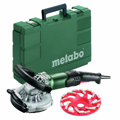 Metabo US603825751 RSEV 19-125 RT Renovation Grinder Kit with Diamond Cup Concrete Wheel