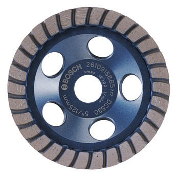 Bosch DC530 5 in. Turbo Row Diamond Cup Wheel