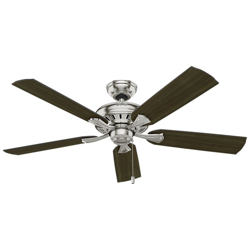 Hunter 53360 52 in. Brushed Nickel 5-Minute Ceiling Fan with Light