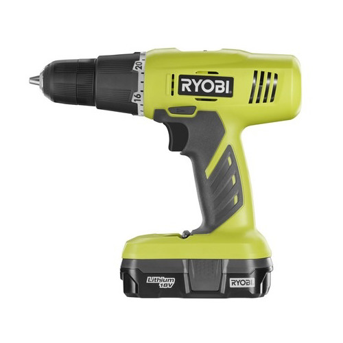 Factory Reconditioned Ryobi ZRP1810 18V One Plus Lithium-Ion 3/8 in. Starter Drill Driver Kit