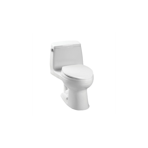 TOTO MS854114S#01 UltraMax Elongated 1-Piece Floor Mount Toilet with SoftClose Seat (Cotton White)