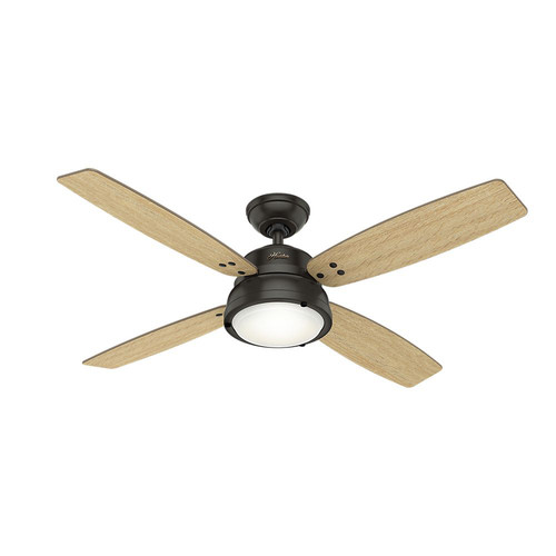 Hunter 59438 52 in. Wingate Noble Bronze Ceiling Fan with Light and Handheld Remote image number 0