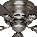 Hunter 51060 42 in. Low Profile IV Antique Pewter Ceiling Fan image number 3