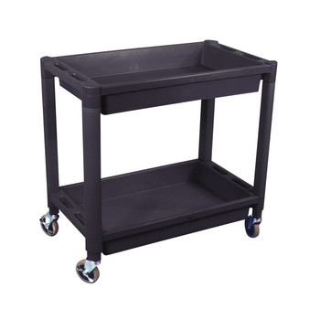 Astro Pneumatic 8330 Heavy Duty Plastic 2-Shelf Utility Cart (Black) image number 0