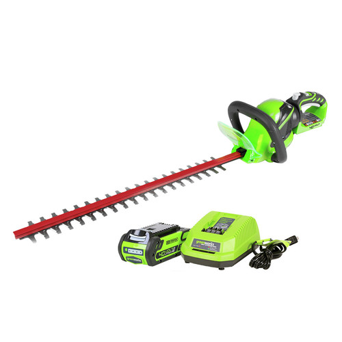 Greenworks 22262 40V G-MAX Lithium-Ion 24 in. Rotating Hedge Trimmer