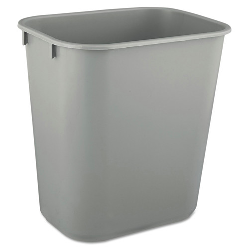 Rubbermaid 2955GRA 3.5 Gal. Desk side Plastic Wastebasket (Gray)