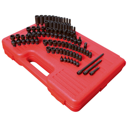 Sunex 1874 1/4 in. Drive 74 Piece SAE/Metric Master Impact Socket Set image number 0