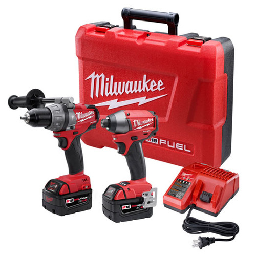 Factory Reconditioned Milwaukee 2797-82 M18 FUEL Lithium-Ion 1/2 in. Hammer Drill Driver and Impact Driver Combo Kit
