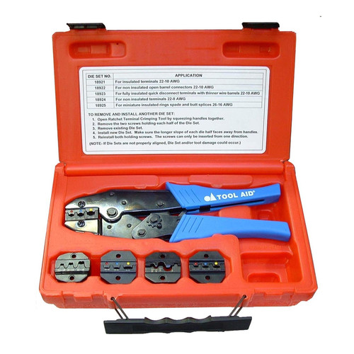 S&G Tool Aid 18920 Ratcheting Terminal Crimping Kit