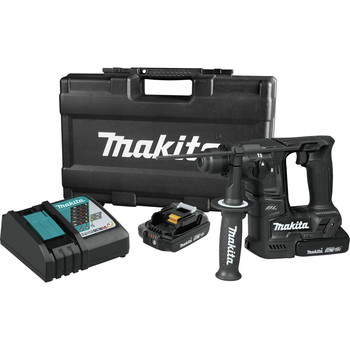 Makita XRH06RBX 18V LXT Lithium-Ion Sub-Compact Brushless 11/16 in. Rotary Hammer Kit, accepts SDS-PLUS bits, 65 Pc. Accessory Set image number 1