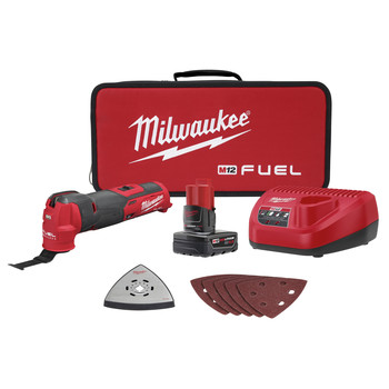 Milwaukee 2526-21XC M12 FUEL Brushless Lithium-Ion Cordless Oscillating Multi-Tool Kit (4 Ah)