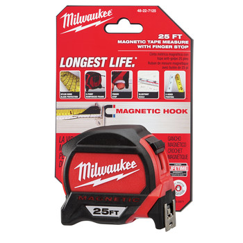 Milwaukee 48-22-7125C 25 ft. Magnetic and Compact Tape Measure (2 Pc) image number 8