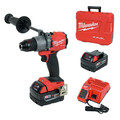 Milwaukee 2804-22 M18 FUEL Lithium-Ion 1/2 in. Cordless Hammer Drill Kit (5 Ah) image number 0