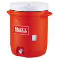 Rubbermaid Commercial 16100111 15-27/32 in. x 20-1/2 in. Insulated Beverage Container (Orange/White)