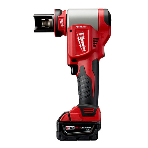 Milwaukee 2676-23 M18 FORCE LOGIC 18V Cordless Lithium-Ion High Capacity Knockout Kit with EXACT 1/2 - 4 in. Knockout Set