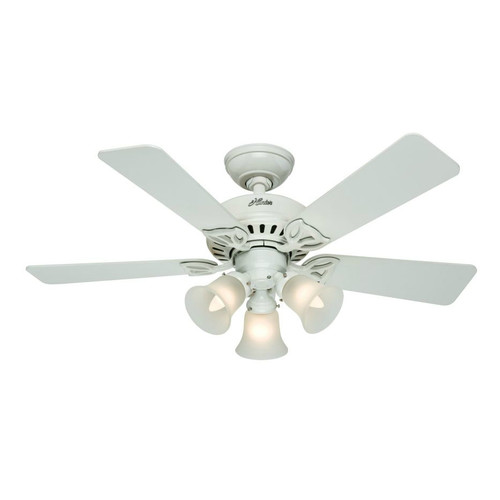 Hunter 53081 42 in. Beacon Hill White Ceiling Fan with Light