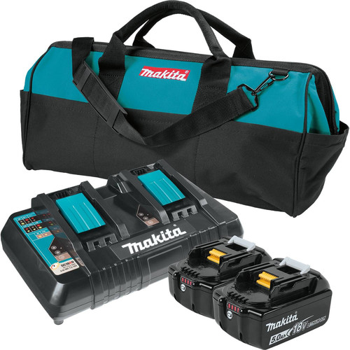 makita bl1850b2dc2x 18v lxt lithium ion battery and dual. Black Bedroom Furniture Sets. Home Design Ideas