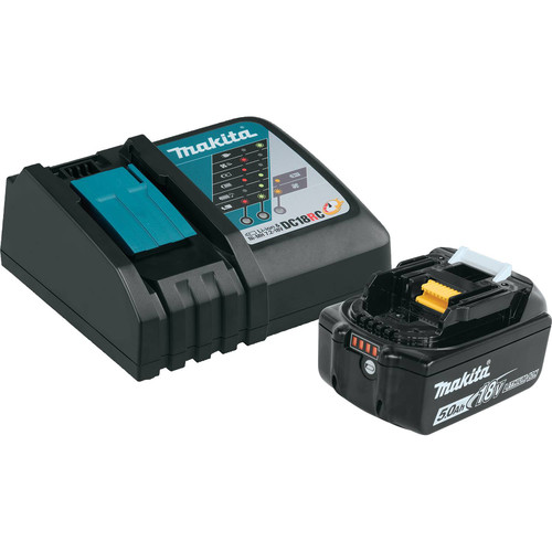 Makita BL1850BDC1 18V 5.0 Ah Compact Lithium-Ion Battery and Charger Starter Pack