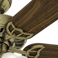 Hunter 53063 52 in. Studio Traditional Antique Brass Walnut Indoor Ceiling Fan with 4 Lights image number 9