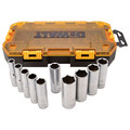 Dewalt DWMT73814 10-Piece Stackable 1/2 in. Deep Drive Socket Set (SAE)