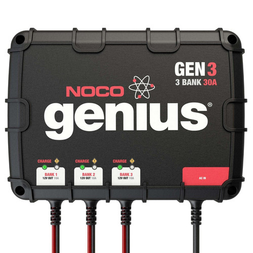 NOCO GEN3 GEN Series 30 Amp 3-Bank Onboard Battery Charger