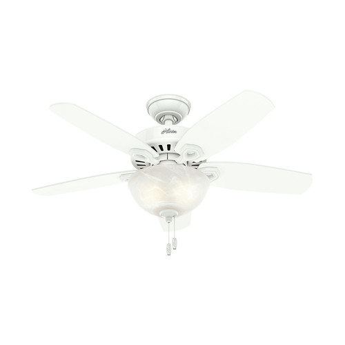 Builder Small Room Snow White Ceiling Fan With Light