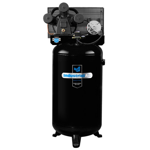 Industrial Air ILA4708065.01 4.7 HP 230V 80 Gallon Vertical Stationary High-Flow Air Compressor (No Control Panel)