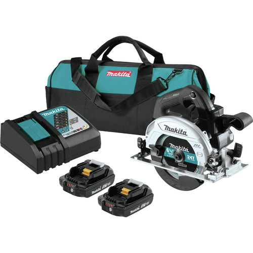 Makita XSH04RB 18V LXT Lithium-Ion 2.0 Ah Sub-Compact Brushless 6-1/2 in. Circular Saw Kit