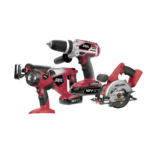 Factory Reconditioned Skil 2895LI-20-RT 18V Cordless Lithium-Ion 4-Tool Combo Kit