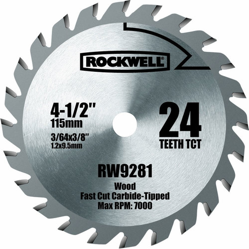 Rockwell rw9281 4 1 2 in 24t carbide tipped compact circular saw blade 24t carbide tipped compact circular saw blade keyboard keysfo Choice Image