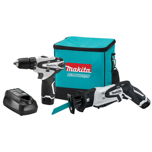 Makita LCT212W 12V MAX Cordless Lithium-Ion 3/8 in. Drill Driver and Reciprocating Saw Combo Kit