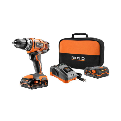 Factory Reconditioned Ridgid ZRR860052K 18V Lithium-Ion 2-Speed Compact 1/2 in. Cordless Drill Driver (1.5 Ah)