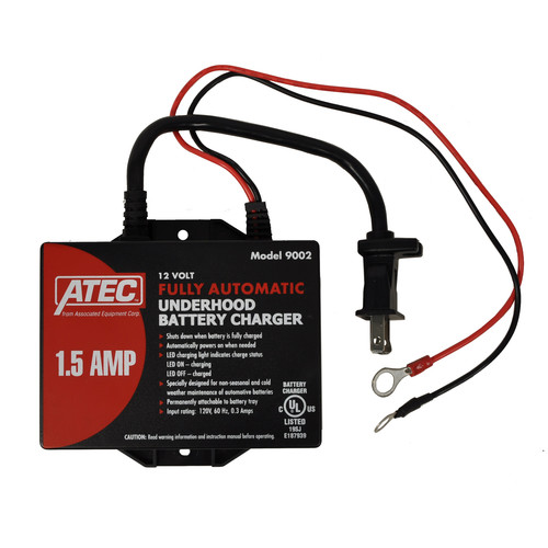 Associated Equipment 9002 1.5 Amp 12V Automatic Charger/Maintainer