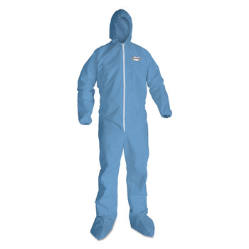 KleenGuard KCC 45356 A65 Hood & Boot Flame-Resistant Coveralls, Blue, 3x-Large, 21/carton image number 1