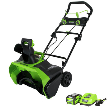 Greenworks 26272 40V G-MAX Li-Ion 20 in. Snow Thrower image number 0