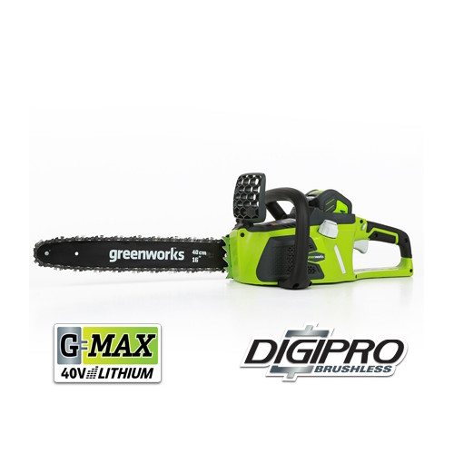 Greenworks 20312 40V G-MAX Lithium-Ion DigiPro Brushless 16 in. Chainsaw Kit image number 0