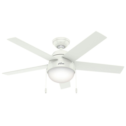 Hunter 59266 46 in. Anslee White Ceiling Fan