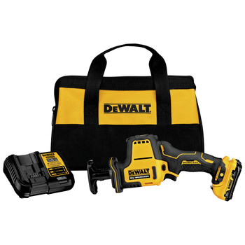 Dewalt DCS312G1 XTREME 12V MAX Brushless Lithium-Ion One-Handed Cordless Reciprocating Saw Kit (3 Ah)