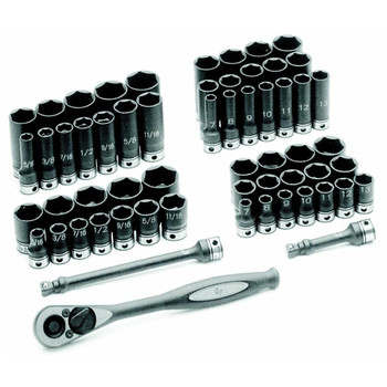 Grey Pneumatic 81659CRD 59-Piece 3/8 in. Drive 6-Point SAE/Metric Standard and Deep Duo-Socket Set