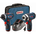 Bosch CLPK27-120 12V Max Compact Lithium-Ion Cordless 2-Speed Pocket Driver and Impact Driver 2-Tool Combo Kit (2 Ah) image number 0