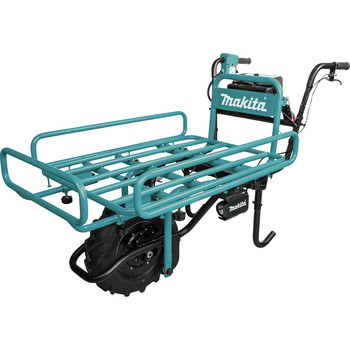 Makita XUC01PTX2 18V X2 LXT Brushless Cordless Power-Assisted Hand Truck/Wheelbarrow Kit with Flat Bed (5.0Ah) image number 2