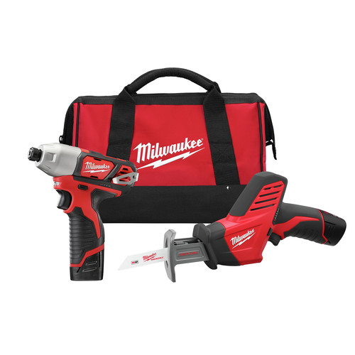 Factory Reconditioned Milwaukee 2491-82 M12 12V Cordless Lithium-Ion 2-Tool Combo Kit