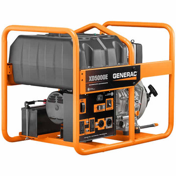 Generac 6864 XD5000E 5,000 Watt Electric Start Diesel Portable Generator