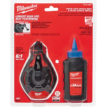 Milwaukee 48-22-3982 100 ft. Bold Line Kit with Blue Chalk image number 0