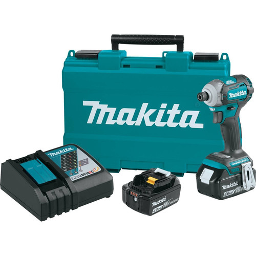 Makita XDT12M LXT 18V Cordless Lithium-Ion 1/4 in. Brushless Quick-Shift 4-Speed Impact Driver Kit